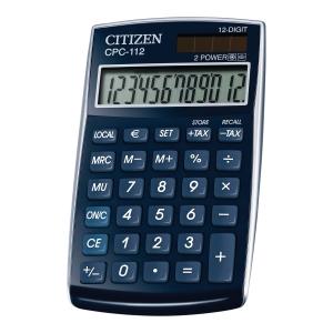 CITIZEN CPC-112BL CALCULATOR 12DIG BLUE