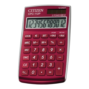 CITIZEN CPC-112RD CALCULATOR 12DIG RED