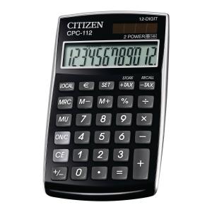Kalkulator CITIZEN CPC-112, 12 pozycji, czarny*