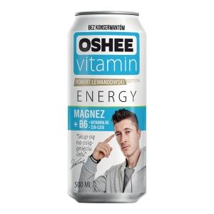 Napój Energy Drink OSHEE MAGNESIUM Owoce tropikalne 250 ml, 24 puszki