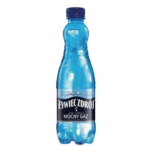 Woda źródlana ŻYWIOŁ od ŻYWIEC ZDRÓJ gazowana, 24 butelki x 0,5 l