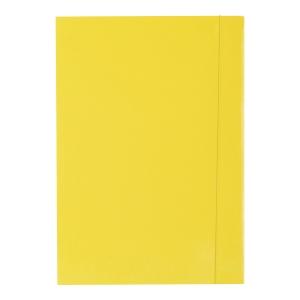 Teczka lakierowana z gumką BARBARA, 350 g/m², A4, żółta