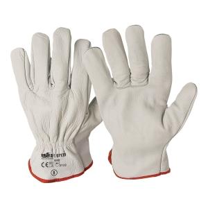 Rękawice skórzane INDUSTRIAL STARTER 07139, białe, rozmiar 10, para