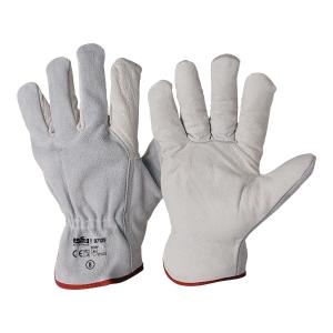 Rękawice skórzane INDUSTRIAL STARTER 07129, białe, rozmiar 10, para