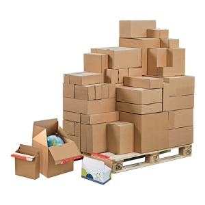 Karton COLOMPAC Eurobox, wymiary w mm: dł. 194 x szer. 194 x wys. 87, 10 sztuk