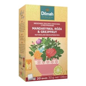 Napar DILMAH INFUSIONS Tangerine, Rose & Grapefruit, 20 torebek