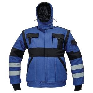 Kurtka ocieplana CERVA MAX WINTER REFLEX, niebiesko-czarna, rozmiar 58