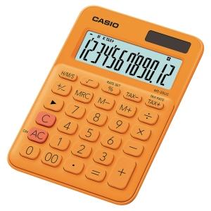 Kalkulator CASIO MS-20UC pomarańczowy, 12 pozycji