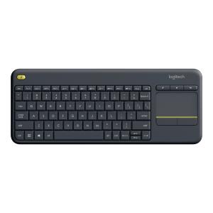 Klawiatura bezprzewodowa z touchpadem K400 Plus, czarna