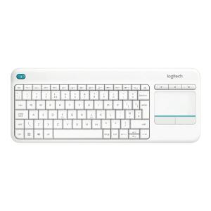 Klawiatura bezprzewodowa z touchpadem K400 Plus, biała