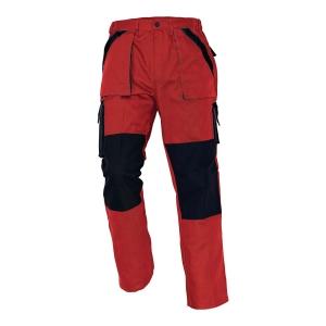 Spodnie CERVA Max Classic, czerwono-czarne, rozmiar 64