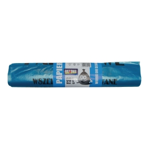 Worki do segregacji 60 l,niebieskie na papier, 60 x 72 cm