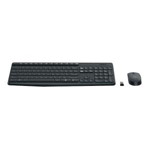 Zestaw bezprzewodowej klawiatury i myszy LOGITECH MK235, czarny