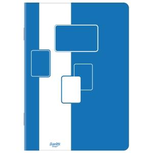 Blok notatnikowy BANTEX BUDGET, klejony, A5, kratka, 50 kartek