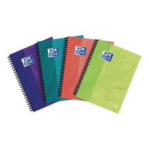 Kołobrulion OXFORD Touch, A5+, kratka, 120 kartek, miks kolorów