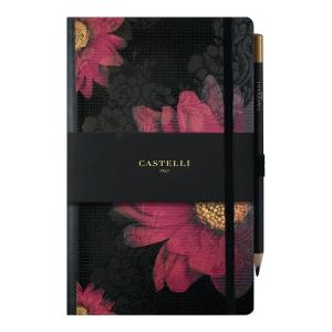 Notes CASTELLI Floral, A5, linia, 120 kartek