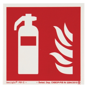 FIRE EXTING. SIGN ISO 150X150MM