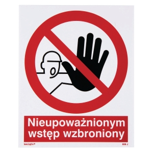STAFF ONLY SIGN 225X275MM