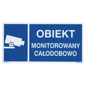 VIDEO SURVEILLANCE SIGN 150X300MM