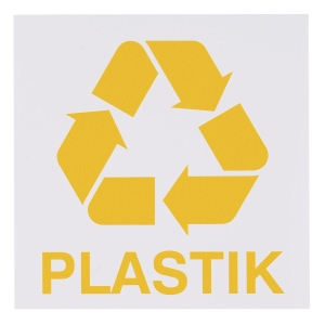 PLASTICS WASTE SIGN 150X150MM