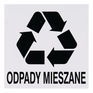 MIXED WASTE SIGN 150X150MM