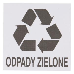 Znak informacyjny  Odpady zielone  150 x 150 (mm)