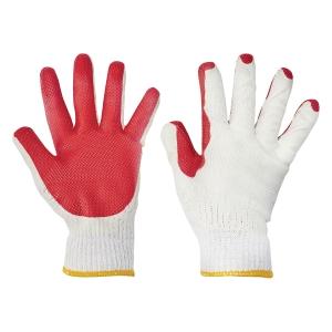 Rękawice F&F Redwing Light HS-04-007, biało-czerwone, rozmiar 10, 60 par
