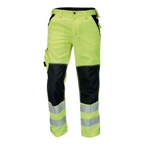 Spodnie ostrzegawcze CERVA Knoxfield HI-VIS, żółte, rozmiar 56
