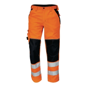 Spodnie ostrzegawcze CERVA Knoxfield HI-VIS, pomarańczowe, rozmiar 58