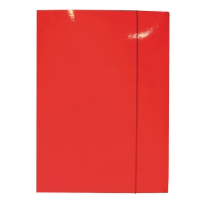 Teczka z gumka BIGO Lux, A4, czerwona