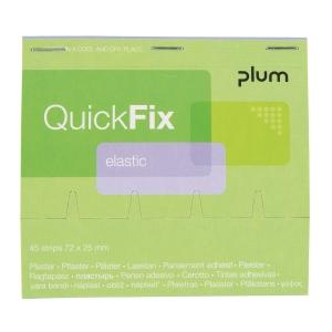 Wkład plastrów elastycznych do dozownika PLUM QuickFix, roz. 72x25 mm, 45 sztuk