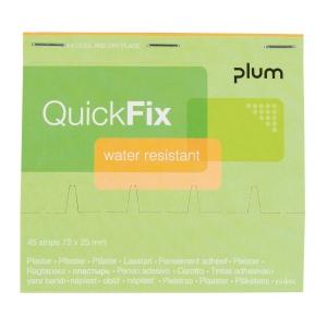 Wkład plastrów wodoodpornych do dozownika PLUM QuickFix, roz. 72x25 mm, 45 sztuk