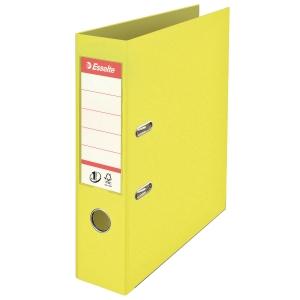 Segregator z mechanizmem ESSELTE ICE COLOUR A4 75 mm żółty