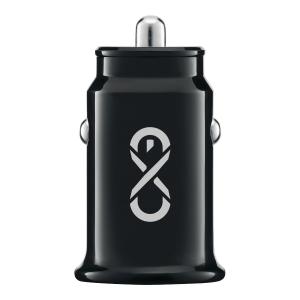 Inteligentna ładowarka samochodowa eXc SHINE, 2xUSB, 3.1A, czarna