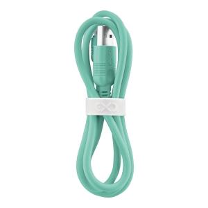 Uniwersalny kabel micro USB  eXc WHIPPY, 0.9m, miętowy