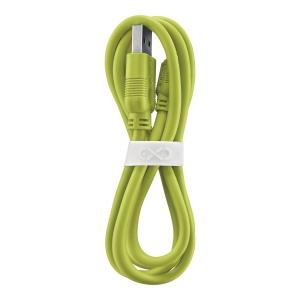Kabel kompatybilny z Lightning eXc WHIPPY, 0.9m, limonkowy