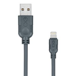 Kabel kompatybilny z Lightning eXc WHIPPY, 2m, szary