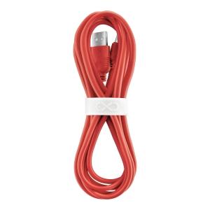 Uniwersalny kabel USB2.0 do USB-C eXc WHIPPY, 2m, czerwony