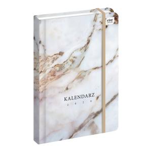 Kalendarz INTERDRUK A5, tygodniowy, z motywem kamienia i złotymi wstawkami