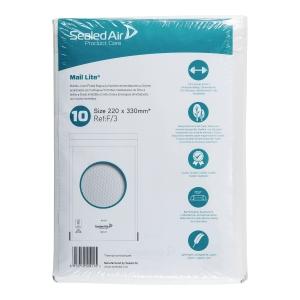 BOX10 AIR CUSHIONED ENV 22X23CM WHITE