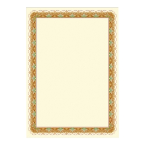 PK25 DECORATED PAPER 170G A4 GOLD