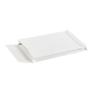 Koperty z rozszerzonymi bokami i dnem, 256x356x30 mm, białe, 25 sztuk