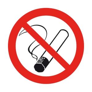 Znak  Palenie tytoniu zabronione , 150 x 150 mm
