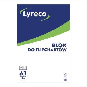 Blok do flipchartów LYRECO kratka, 30 kartek