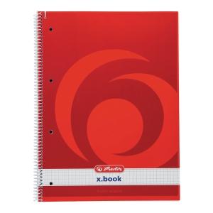 Kołonotatnik HERLITZ x.book, okładka półtwarda, kratka, A4+, 70 kartek*