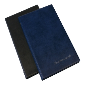 BUSINESS CARD FILE 200 NAVY BLUE