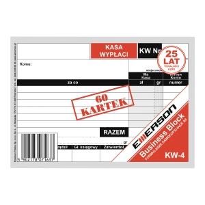 Druk EMERSON Dowód wypłaty KW A6, 60 kartek