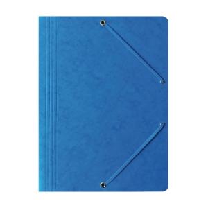 Teczka kartonowa BANTEX z gumką 3 skrzydłowa A4  niebieska