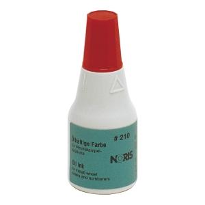 Tusz NORIS 210 do stempli metalowych, czerwony