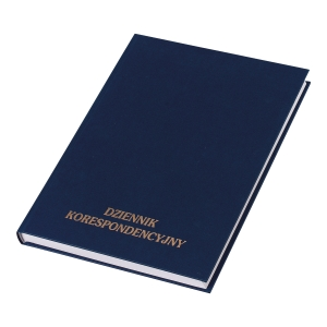 Podawczy dziennik korespondencyjny KOH-I-NOOR w twardej oprawie, 96 kartek